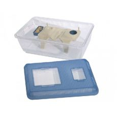 Cutie portabilă pentru rozătoare RODEO 16, din plastic 48 x 30 x 18 cm