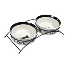 Două castroane de ceramică cu suport - 2 x 1,6 l