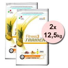 Trainer Fitness3 Adult MEDIUM MAXI, iepure și cartofi - 2x12,5 kg