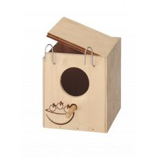 Cutie cuib pentru păsări exotice 11,5 x 12,5 x 12cm