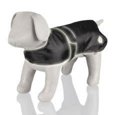Hăinuță pentru câini cu accente reflectorizante, de culoare neagră - M / 50-70cm
