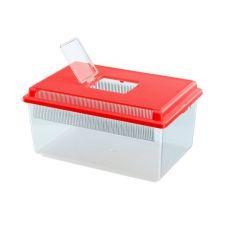 Cutie portabilă pentru reptile și insecte GEO FLAT SMALL - roșie, 4L