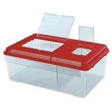 Cutie portabilă pentru reptile și insecte GEO FLAT LARGE - roșu, 8L