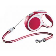 Lesă Flexi Vario M pentru câini de până la 20kg, lungime coardă 5m- culoare roșie