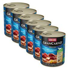 Conservă GranCarno Fleisch Adult smoked eel + potato - 6x800g