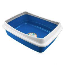 Toaletă pentru pisici  - albastru, 47 x 36 x 15,5 cm