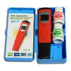 Dispozitiv măsurare pH și indicator temperatură - cu soluții de calibrare