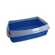 Toaletă pentru pisici - albastru - 54,5 x 40 x 18 cm