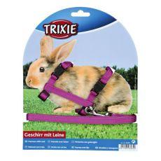 Ham şi lesă pentru iepuri - lila, cu cataramă de plastic