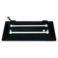 Sistem de iluminare pentru acvarii clasice 100 x 50 cm – negru, drept