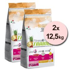 Trainer Fitness3 Junior MEDIUM MAXI - rață și orez 2x12,5 kg