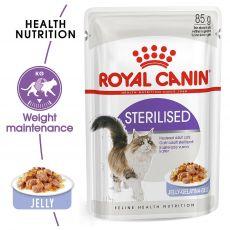 Royal Canin STERILISED in Jelly 85g - hrană în jeleu, ambalat în pungă de aluminiu