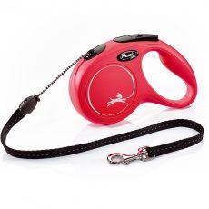 Lesă Flexi New Classic, M, pentru câini de până la 20kg, lungime 8m - culoare roșie