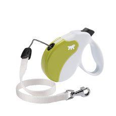 Lesă Amigo Large, pentru câini de până la 50kg - lungime 5m, culoare alb/verde