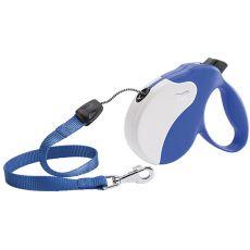 Lesă Amigo Medium pentru câini de până la 25kg - lungime 5m, culoare albastru/alb
