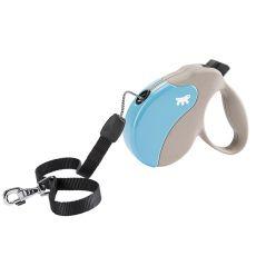 Lesă Amigo Medium pentru câini de până la 25kg - lungime 5m, culoare bej/albastru