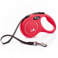 Lesă Flexi New Classic S, pentru câini de până la 15kg, lungime coardă 5m - culoare roșie