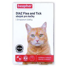 DIAZ, zgardă pentru pisici împotriva căpușelor și puricilor - 35 cm