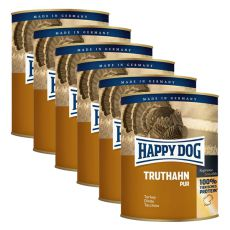 Happy Dog Pur - Truthahn/turkey, 6 x 800g, 5+1 GRATUIT