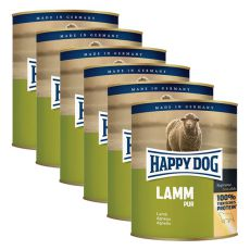 Happy Dog Pur - Lamm/lamb, 6 x 800g, 5+1 GRATUIT