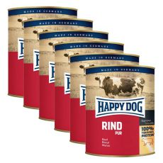 Happy Dog Pur - Rind/beef, 6 x 800g, 5+1 GRATUIT