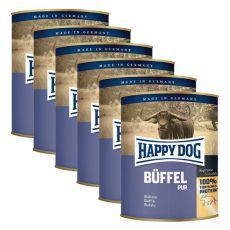 Happy Dog Pur - Büffel/buffalo meat, 6 x 800g, 5+1 GRATUIT