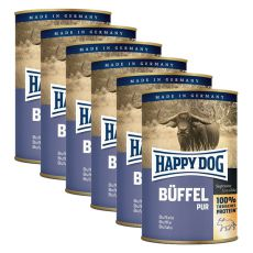 Happy Dog Pur -Buffalo, 6 x 400g, 5+1 GRATUIT