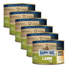 Happy Dog Pur - Lamb, 6 x 200g, 5+1 GRATUIT