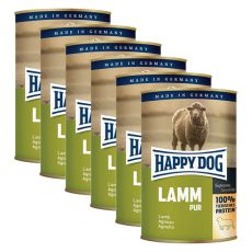 Happy Dog Pur - Lamb, 6 x 400g, 5+1 GRATUIT