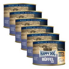 Happy Dog Pur - Buffalo, 6 x 200g, 5+1 GRATUIT