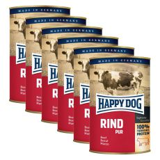 Happy Dog Pur - Beef, 6 x 400g, 5+1 GRATUIT