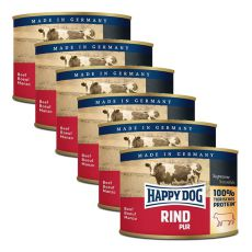 Happy Dog Pur - Beef, 6 x 200g, 5+1 GRATUIT