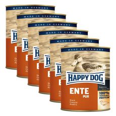 Happy Dog Pur - Ente/duck, 6 x 800g, 5+1 GRATUIT