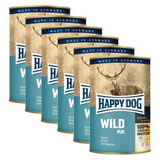 Happy Dog Pur - Wild, 6 x 400g, 5+1 GRATUIT