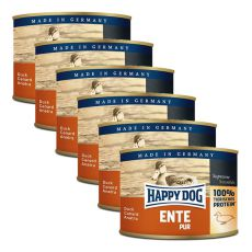 Happy Dog Pur - Ente/duck, 6 x 200g, 5+1 GRATUIT