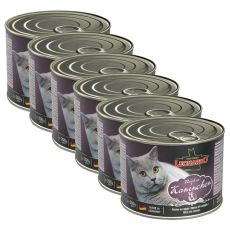 Conservă cu carne de iepure, pentru pisici Leonardo - 6 x 200 g