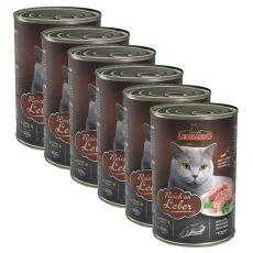 Leonardo conservă pentru pisici - cu ficat 6 x 400 g