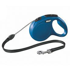 Lesă Flexi New Classic M, pentru câini de până la 20kg, lungime coardă 5m - culoare albastră