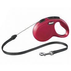 Lesă Flexi New Classic S, pentru câini de până la 12kg, lungime coardă 8m - culoare roșie