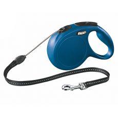Lesă Flexi New Classic M, pentru câini de până la 20kg, lungime coardă 8m - culoare albastră