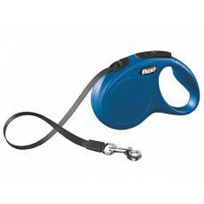 Lesă Flexi New Classic S, pentru câini de până la 15kg, lungime coardă 5m - culoare albastră