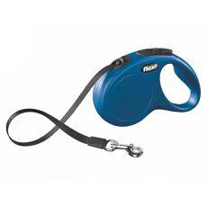 Lesă Flexi New Classic, M-L, pentru câini de până la 50kg, lungime coardă 5m - culoare albastră