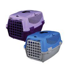 Cușcă de transport câini Capri I - 32 x 31 x 48 cm - gri cu albastru