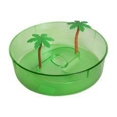 Terariu din plastic pentru țestoase- verde  24,5cm