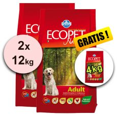 Farmina MO P ECOPET N dog ADULT MEDIUM 2 x 12 kg + 4 kg GRATUIT