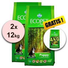 Farmina MO P ECOPET N dog PUPPY MAXI 2 x 12 kg + 4 kg GRATUIT