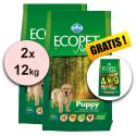 Farmina MO P ECOPET N dog PUPPY MEDIUM 2 x 12kg + 4kg GRATUIT