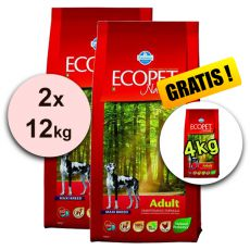 Farmina MO P ECOPET N dog ADULT MAXI 2 x 12 kg + 2 kg GRATUIT.