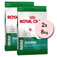 ROYAL CANIN MINI JUNIOR 2 x 8 kg, kölyökutyák számára