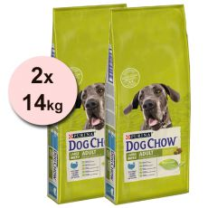 PURINA DOG CHOW ADULT LARGE BREED Curcan 2 x 14 kg